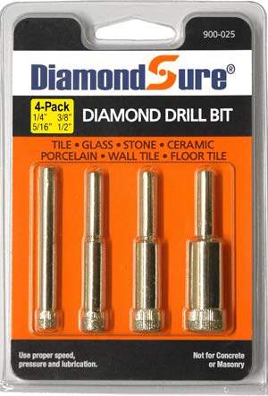 4-Pack Assortment - DiamondSure Diamond Drill Bit