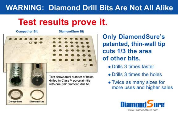 DiamondSure Drill Bit is Superior